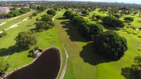 Campo de golfe video aéreo filme
