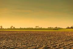Campo de granja del otoño Imagenes de archivo