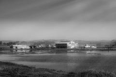 Campo de granja inundado Imagen de archivo libre de regalías