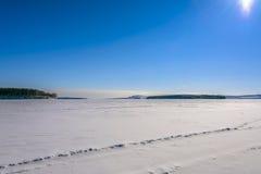 Campo de hielo fotografía de archivo