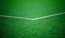 Campo de hierba del fútbol del fútbol imágenes de archivo libres de regalías