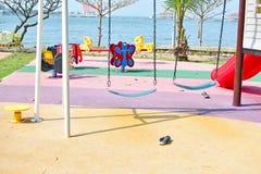Campo de jogos ao lado do mar Imagem de Stock Royalty Free