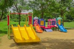 Campo de jogos colorido das crianças Foto de Stock Royalty Free