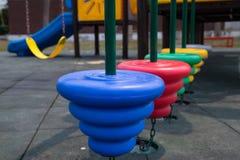 Campo de jogos colorido das crianças no parque Imagens de Stock Royalty Free