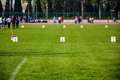 Campo de jogos com marcadores Imagem de Stock Royalty Free