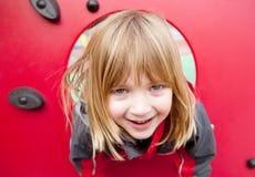 Campo de jogos da criança feliz Fotografia de Stock