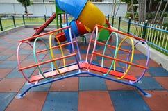 Campo de jogos da criança na escola primária Imagem de Stock Royalty Free