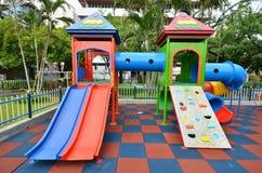 Campo de jogos da criança na escola primay Foto de Stock Royalty Free