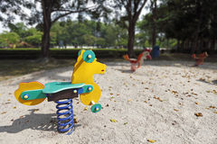 Campo de jogos das crianças. Fotografia de Stock