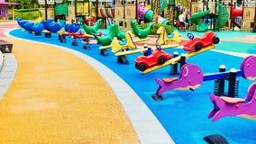 Campo de jogos 2 das crianças foto de stock