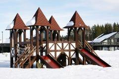 Campo de jogos das crianças com corrediça Imagem de Stock Royalty Free
