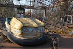 Campo de jogos das crianças em Chernobyl fotografia de stock royalty free