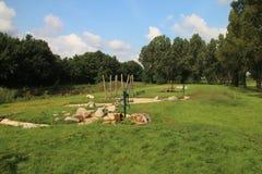 Campo de jogos das crianças em Hitland, Países Baixos Imagem de Stock Royalty Free