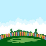 Campo de jogos das crianças no verão Imagem de Stock Royalty Free