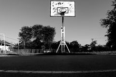 Campo de jogos do basquetebol Foto de Stock Royalty Free