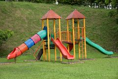 Campo de jogos do jardim Imagem de Stock
