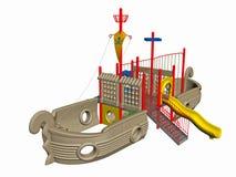 Campo de jogos do navio de pirata   Imagem de Stock