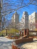 Campo de jogos em Central Park, NYC fotos de stock