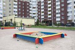 Campo de jogos exterior para crian?as fotos de stock royalty free