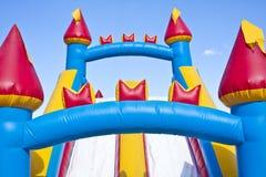 Campo de jogos inflável do castelo das crianças Fotografia de Stock Royalty Free
