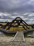Campo de jogos moderno no relé, Dinamarca fotografia de stock