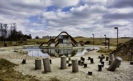 Campo de jogos moderno no relé, Dinamarca fotografia de stock royalty free