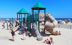 Campo de jogos na praia do parque de Asbury Imagens de Stock