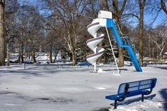 Campo de jogos nevado Fotos de Stock