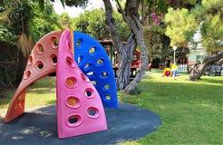 Campo de jogos no hotel de família em Kemer, costa mediterrânea, Turquia imagem de stock