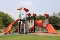 Campo de jogos no jardim Fotografia de Stock Royalty Free
