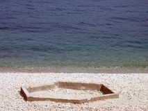 Campo de jogos no mar Foto de Stock Royalty Free