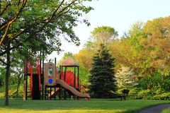 Campo de jogos no parque Fotografia de Stock Royalty Free