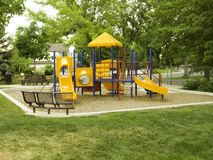 Campo de jogos no parque em cores preliminares Imagens de Stock Royalty Free