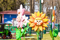 Campo de jogos para crianças Imagens de Stock Royalty Free