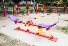 Campo de jogos para o exercício Fotos de Stock Royalty Free