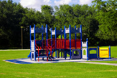 Campo de jogos vazio do castelo Fotos de Stock Royalty Free