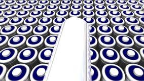 Campo de la batería ilustración del vector
