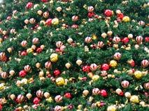 Campo de la decoración de la Navidad Foto de archivo libre de regalías