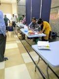 Campo de la donación de sangre imágenes de archivo libres de regalías