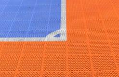 Campo de la esquina de Futsal Foto de archivo
