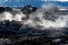 Campo de la lava imagen de archivo libre de regalías