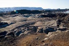 Campo de la lava imagenes de archivo