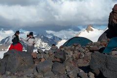 Campo de la montaña fotografía de archivo