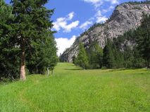 Campo de la montaña Foto de archivo libre de regalías