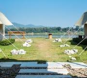 Campo de la opinión del río Foto de archivo libre de regalías