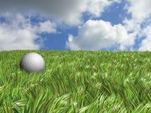 Campo de la pelota de golf Foto de archivo libre de regalías