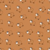 Campo de la textura inconsútil de las ovejas Fotografía de archivo libre de regalías
