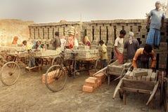 Campo de ladrillo en la Bengala-India del oeste Foto de archivo libre de regalías