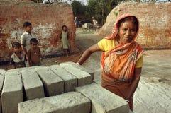 Campo de ladrillo en la Bengala-India del oeste Imagen de archivo