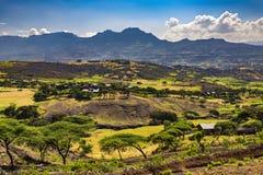 Campo de Lalibela, Etiópia imagem de stock
